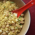 Chickpea & Feta Curried Couscous Salad