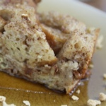 Cinnamon-Swirl Pecan-Crunch Breakfast Bread Pudding
