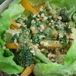 Tofu & Broccoli Stir-Fry with Peanut Butter Sauce