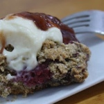 Raspberry Whole Grain Scones with Cream Cheese Frosting Cream and Jam