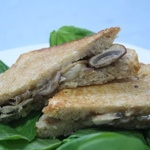 Raclette Cheese, Mushroom and Onion Grilled Sandwich