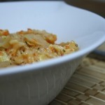 Roasted Red Pepper and Artichoke Heart Risotto with Goat Cheese