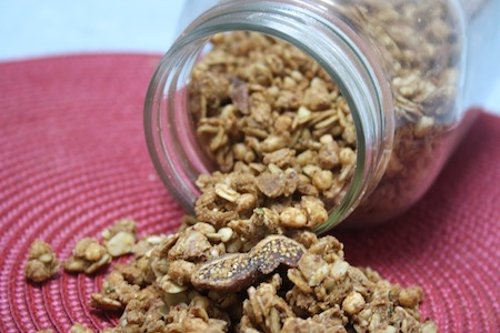 Peanut Butter, Maple & Cinnamon Granola with Figs