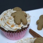 Gingerbread Cupcakes with Cinnamon Cream Cheese Frosting & Butterscotch Glaze