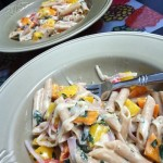 Creamy Brie and Bell Pepper Penne