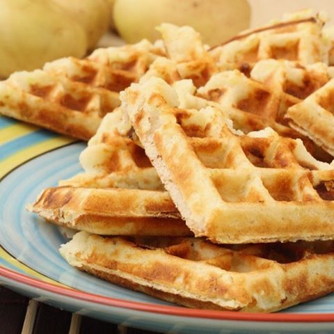 New recipe ontheblog Potato and leek waffles! Crispy on thehellip
