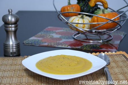 Acorn Squash and Carrot Soup 2
