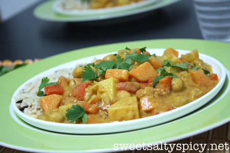 Almond Butter & Coconut Chickpea Curry 2