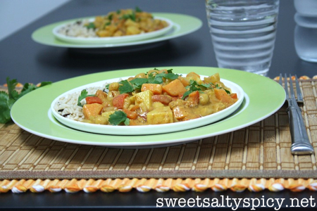 Almond Butter & Coconut Chickpea Curry 3