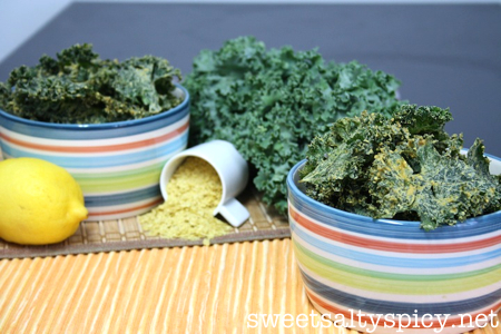 Spicy Cheesy Kale Chips 2