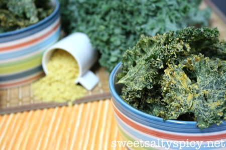 Spicy Cheesy Kale Chips 3