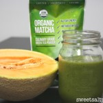 Melon-Matcha Green Smoothie -& Kiss Me Organics Matcha Review