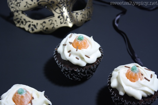 Halloween Grand Marnier chocolate cupcakes dessert