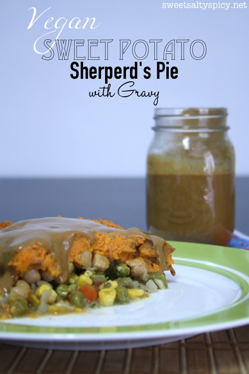 Vegan Sweet Potato Sheperd's Pie with Gravy