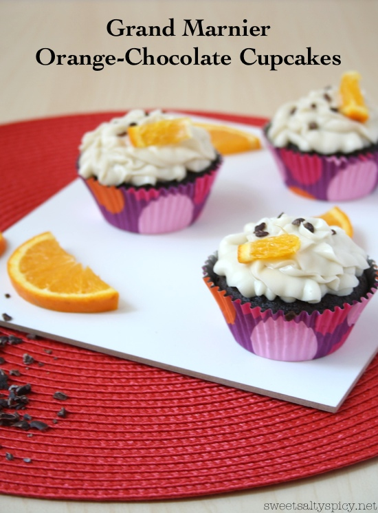 grand marnier orange-chocolate cupcakes
