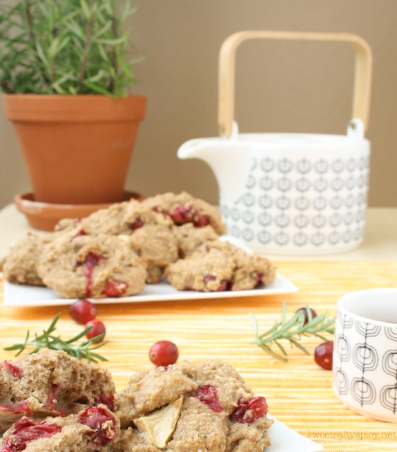 Cranberry, Apple and Rosemary Breakfast Cakes