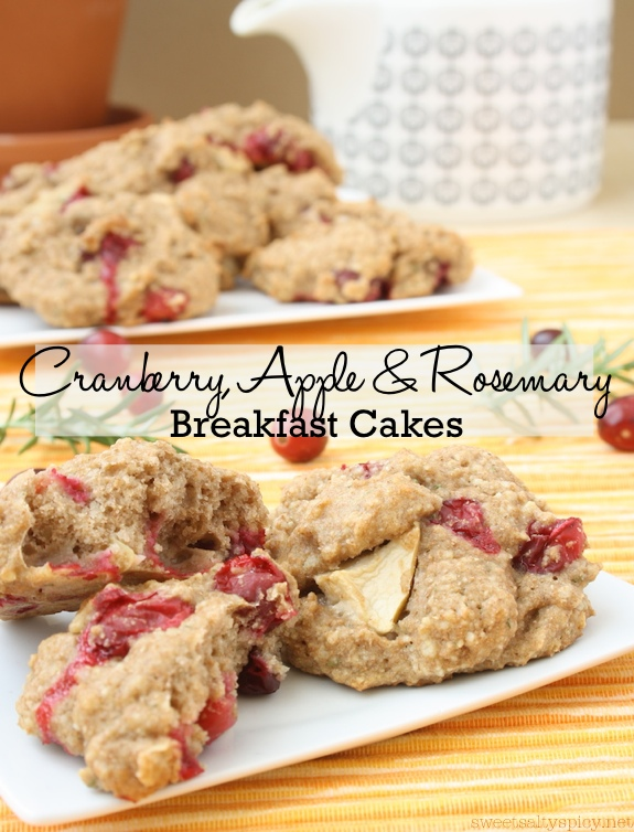 Cranberry, Apple and Rosemary Breakfast Cakes - Vegan and Oil-Free