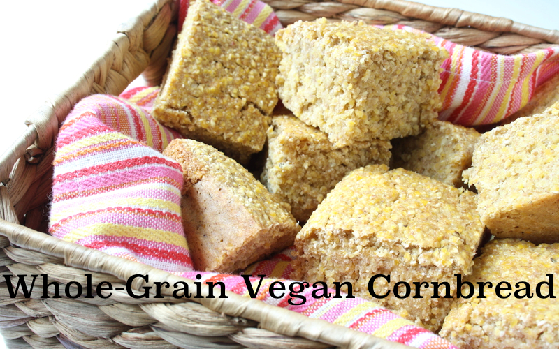 Whole-Grain Vegan Cornbread (Oil-Free)