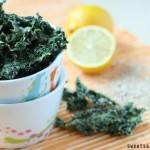 Lemon Tahini Kale Chips