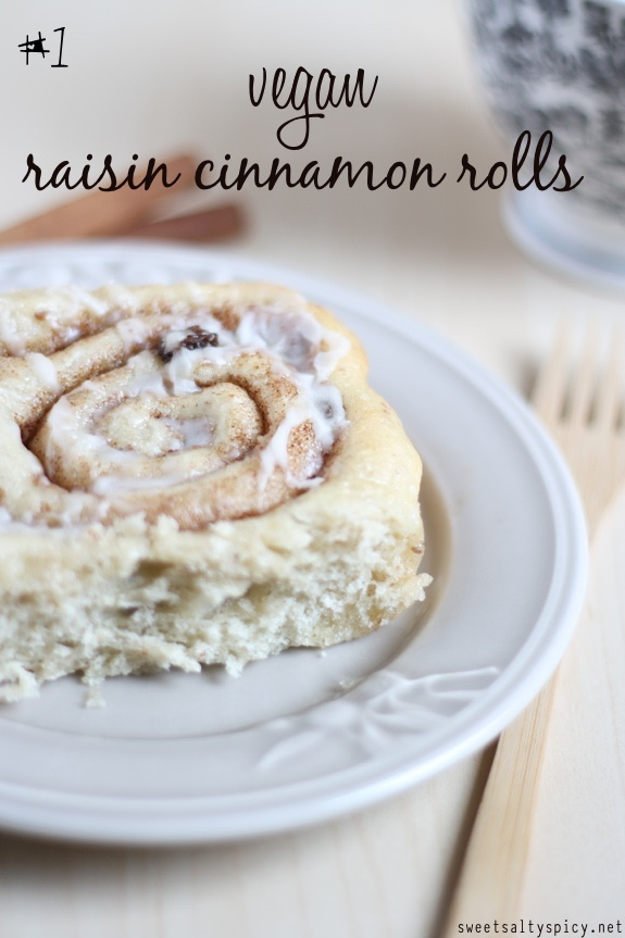 1 vegan raisin cinnamon rolls