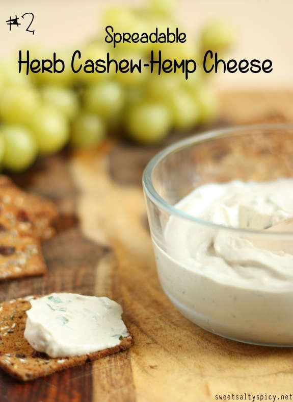 2 Spreadable Herb Cashew-Hemp Cheese