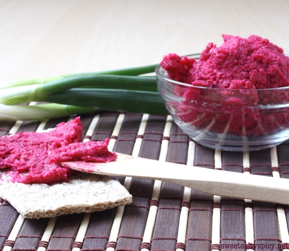 Roasted Beet White Bean Spread